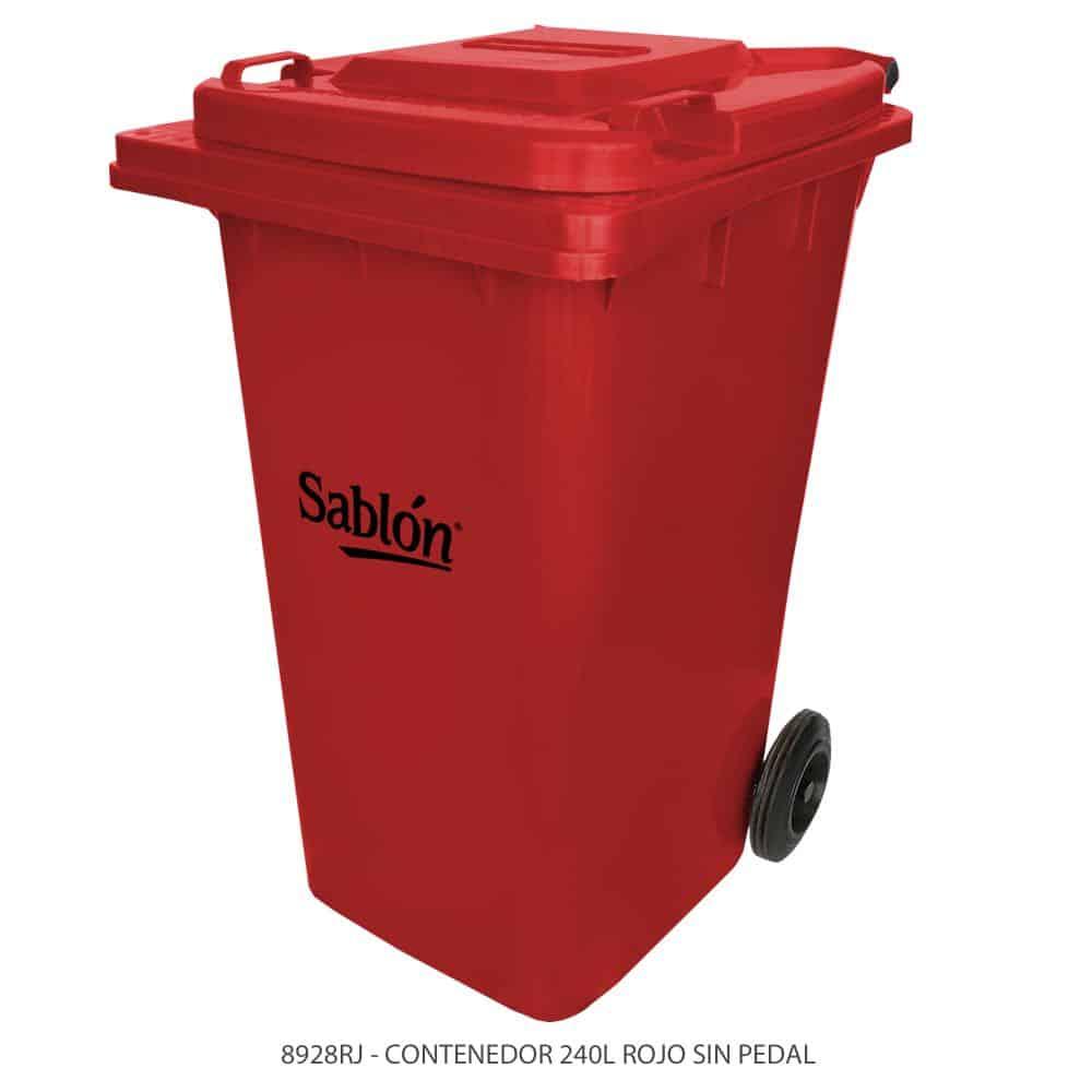 Contenedor-de-basura-de-240-litros-color-rojo-con-tapa-de-color-rojo-sin-pedal-Modelo-8928RJ-Marca-Sablon